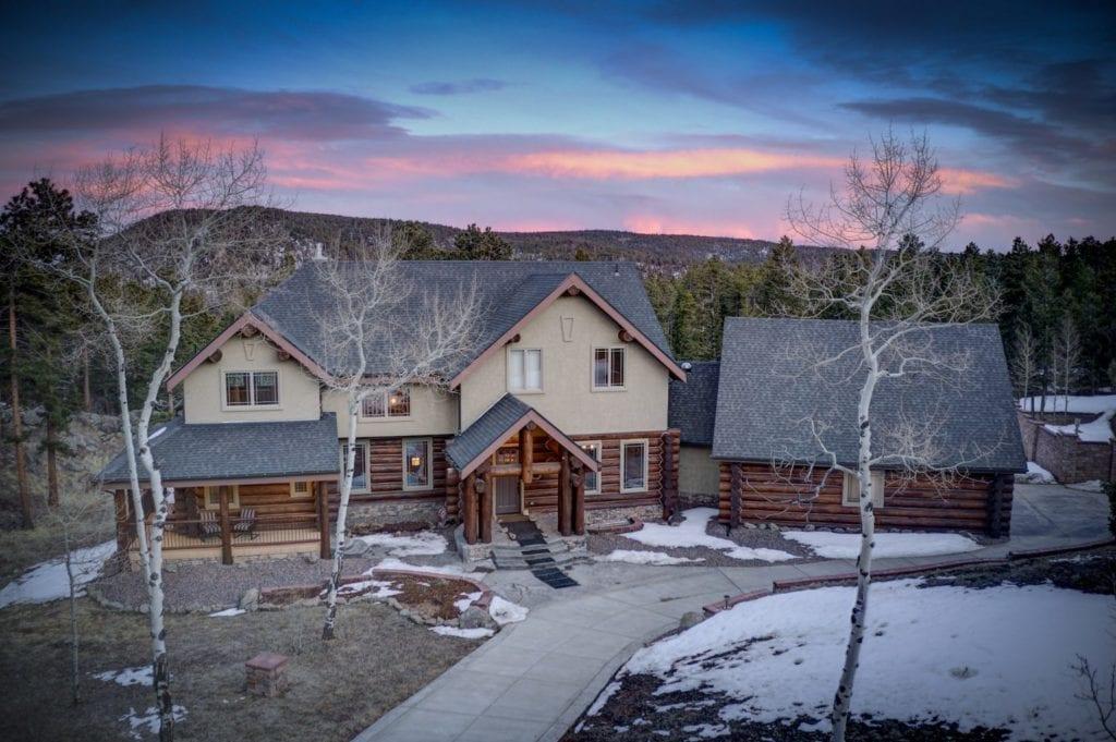 Twilight at 500 Ridge Road Front House